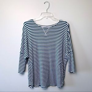 Lou& Grey Blue and White Striped Pullover